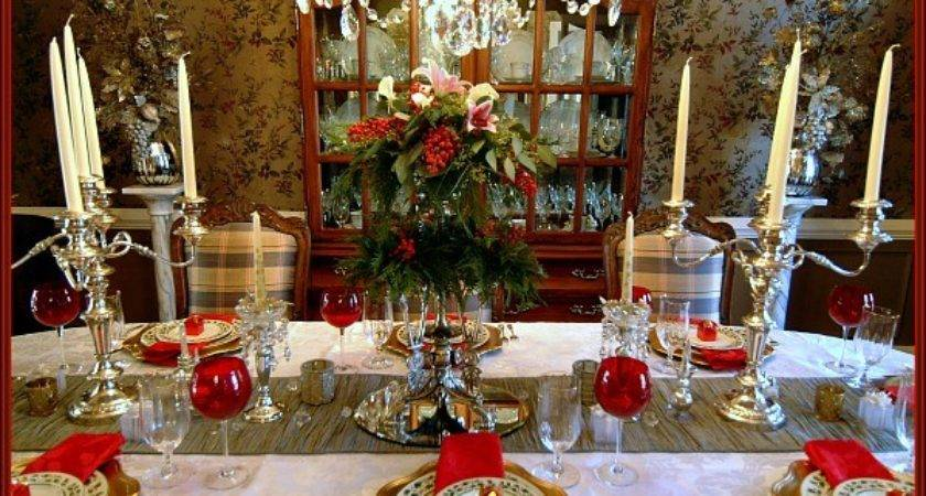 Traditional Christmas Tablescape