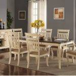 Traditional Cream Dining Set Poundex Hot Sectionals