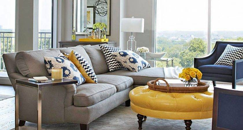 Traditional Decorating Turquoise Gray Yellow Living Room