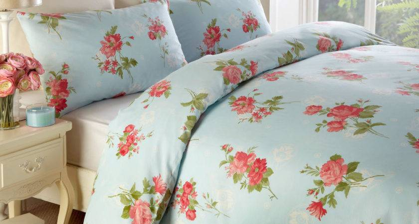 Traditional Floral Duvet Cover Vintage Cotton Rich
