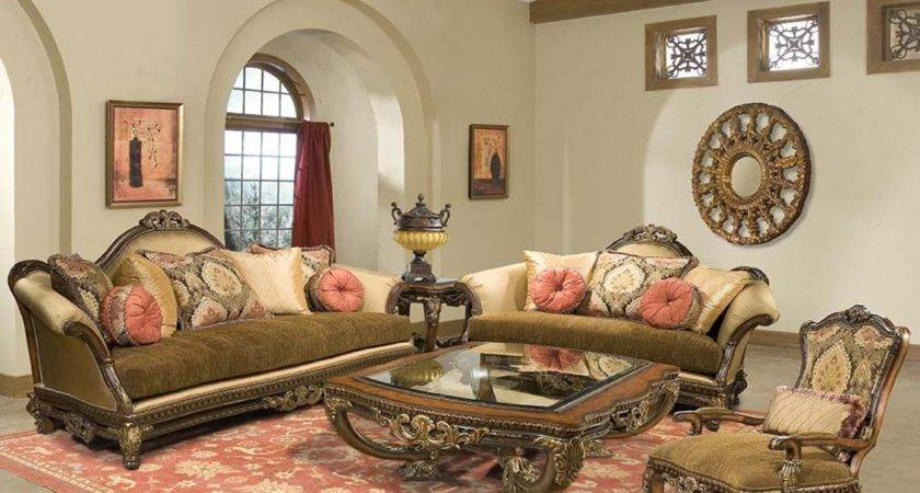 Traditional Furniture Style Italian Living Room
