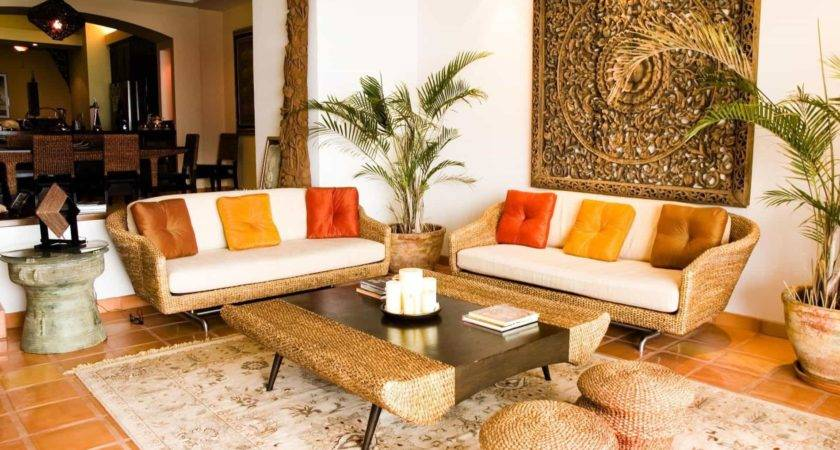 Traditional Indian Living Room Oriental Rattan Chairs