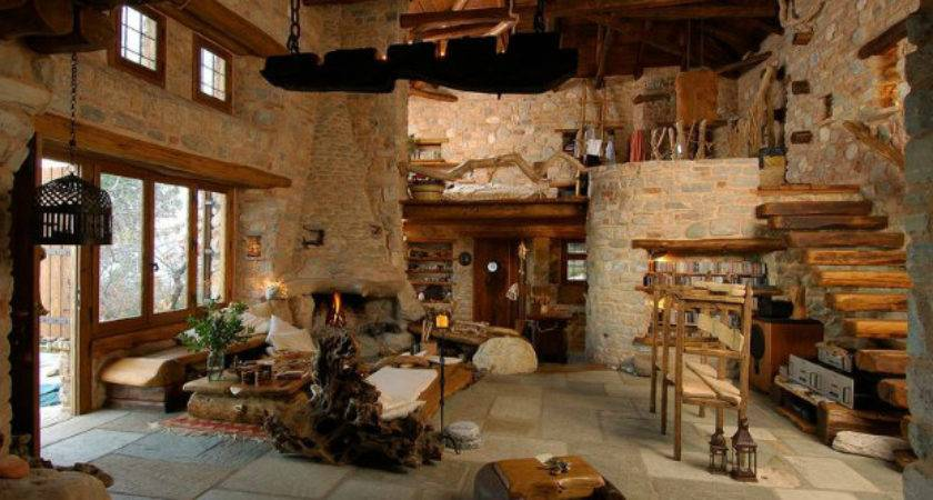 Traditional Stone Home Interiors House Gifts