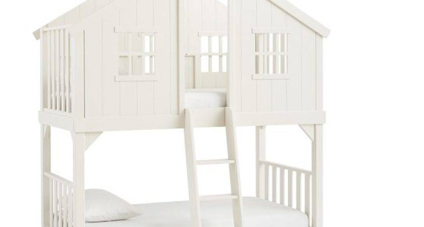 Tree House Twin Over Bunk Bed Pottery Barn Kids