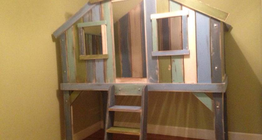 Treehouse Loft Bed Wibbelerwoodworking Etsy