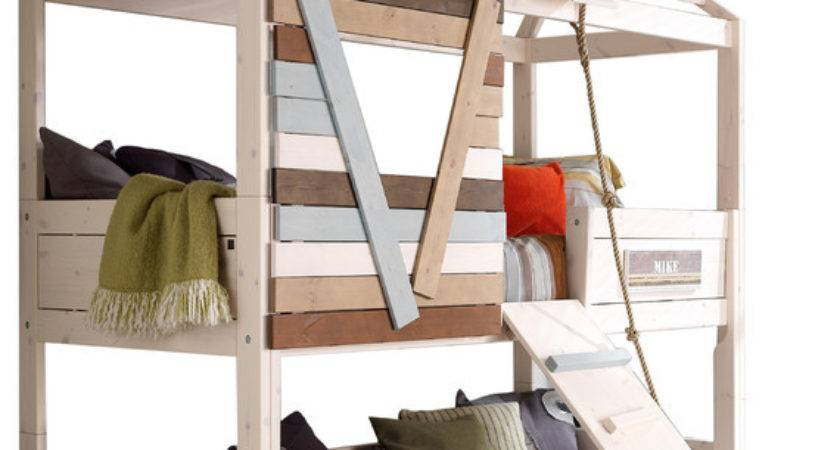 Treehouse Twin Loft Bed Rope Ladder Mattresses
