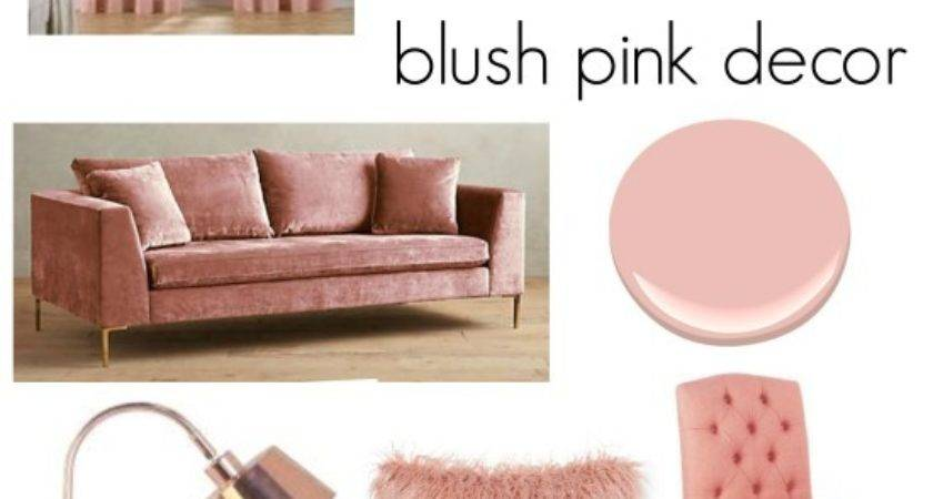 Trend Blush Pink Home Decor Living Rooms