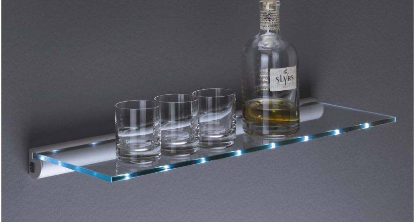 Trendy Floating Shelf Glass Amazingly House Interior