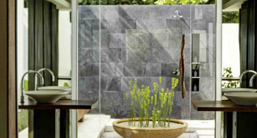 Tropical Nature Bathrooms Get Inspired Home Design