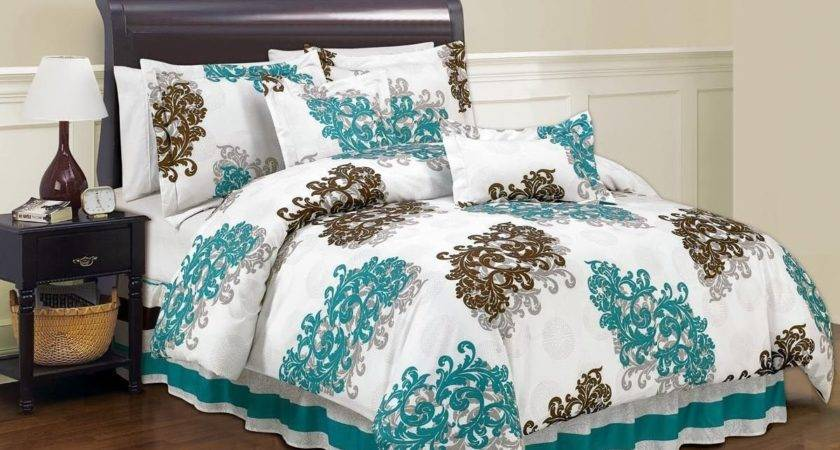 Turquoise Brown Bedding Blue