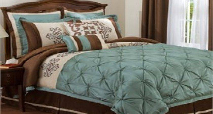 Turquoise Brown Bedroom