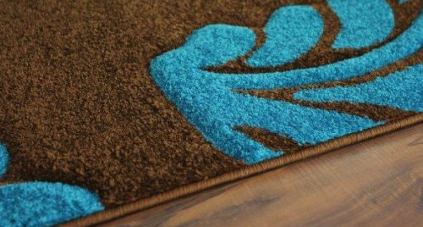 Turquoise Brown Rug Roselawnlutheran