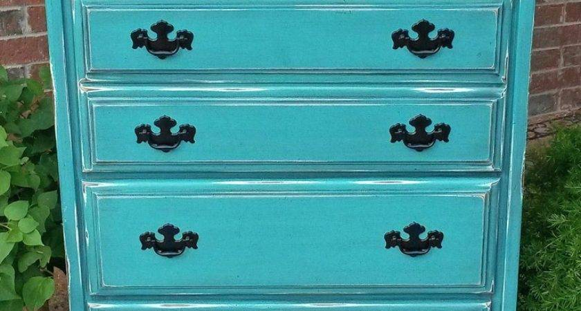 Turquoise Chest Drawers Facelift Furniture