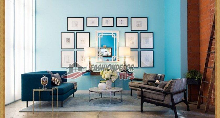 Turquoise Color Living Room Decorating Ideas