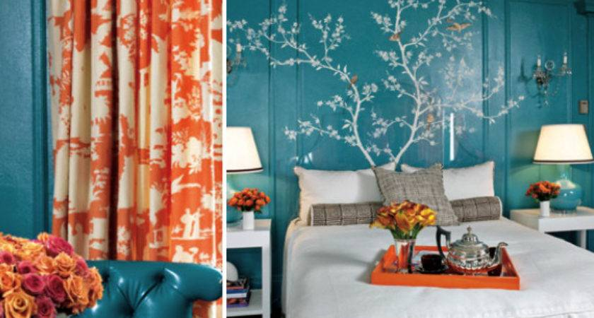 Turquoise Coral Bedroom Suite Kate Byer Interior Design