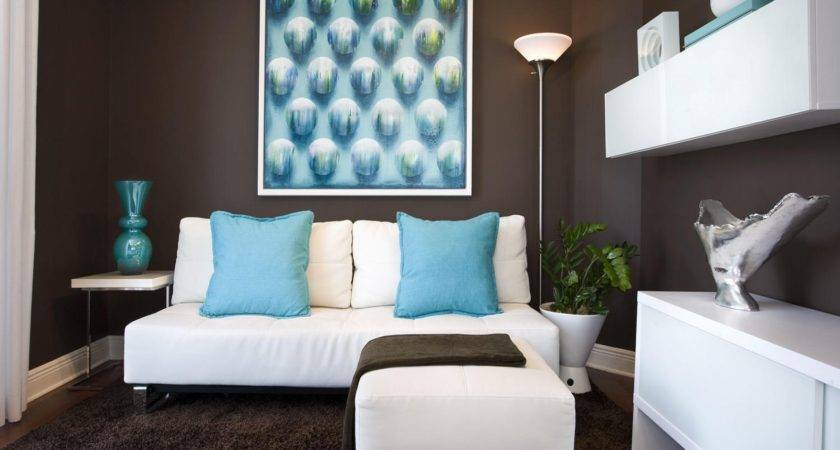 Turquoise Dark Brown Living Room Sky Designs