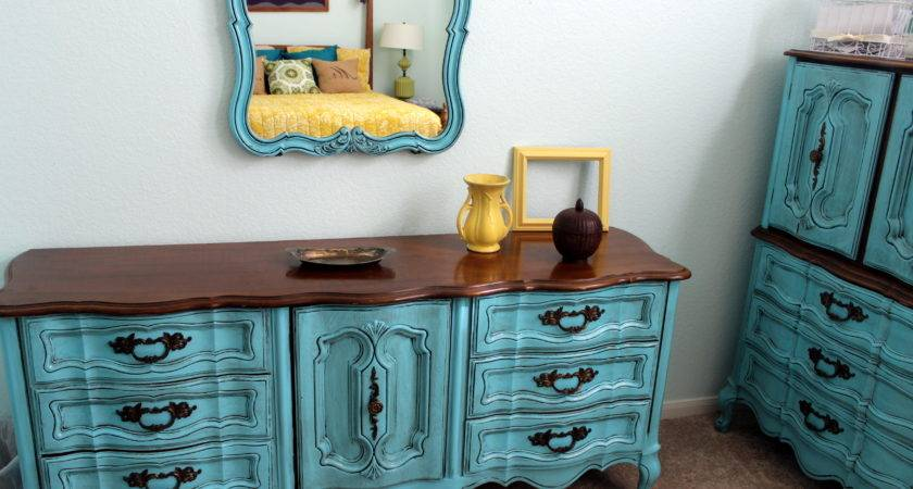 Turquoise French Provincial Furniture Weekend