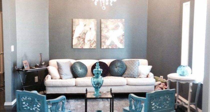 Turquoise Gold Pink Flowers Living Room Picsdecorcom