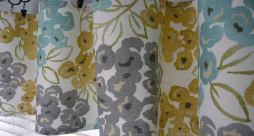 Turquoise Grey Flat Curtain Yellow Gold Valance Runner