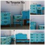 Turquoise Iris Furniture Art French