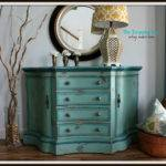 Turquoise Iris Furniture Art Teal Blue Green