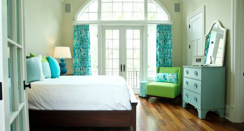 Turquoise Lime Green Bedding Kitchen Contemporary