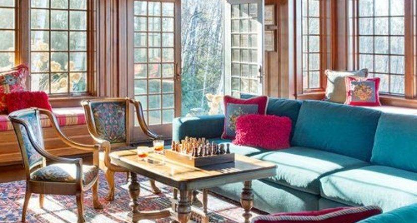 Turquoise Living Room Design Ideas Remodels Photos