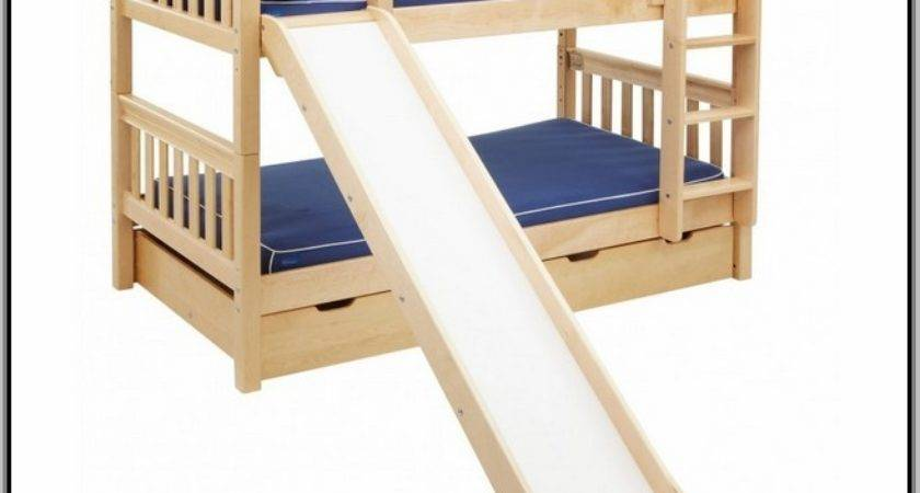 Twin Loft Bed Slide Cottage Low White
