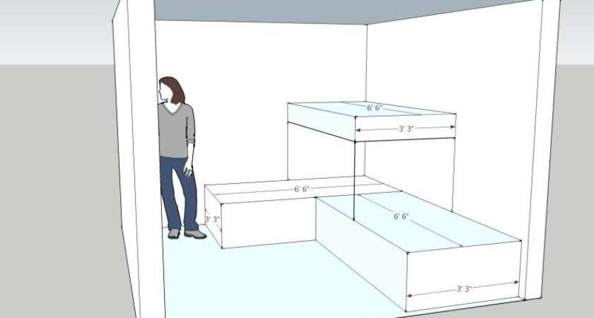 Twin Over Bunkbeds Tiny Low Ceiling Room