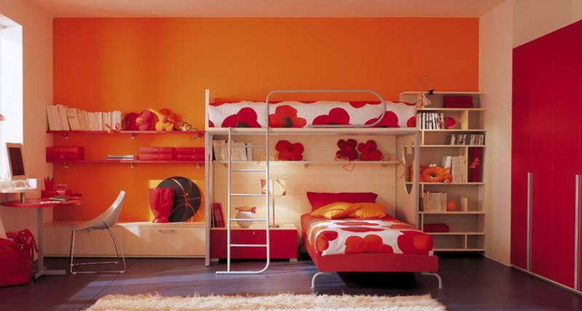 Twins Bedroom Ideas Orange Paint Your Dream Home