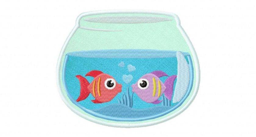 Two Fish Bowl Machine Embroidery Design Embroiderystore