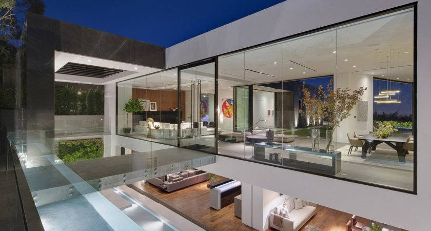 Two Story Glass House Interior Design Ideas