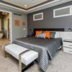 Two Tone Gray Wall Home Design Ideas Remodel