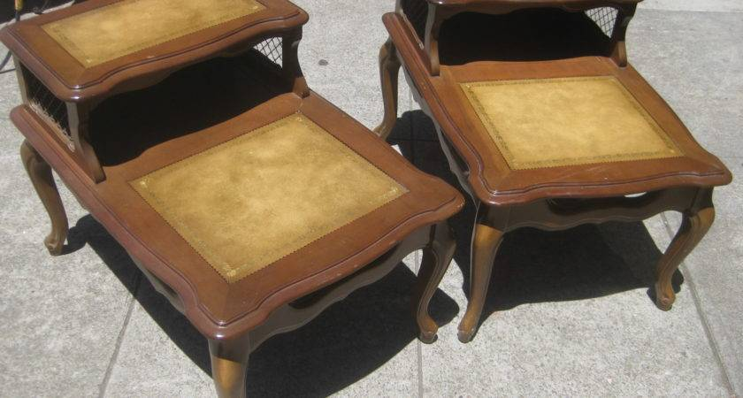 Uhuru Furniture Collectibles Sold Pair Leather Top