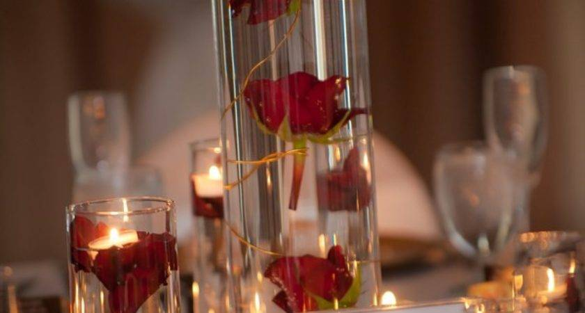 Under Water Red Roses Floating Candle Blossom Events