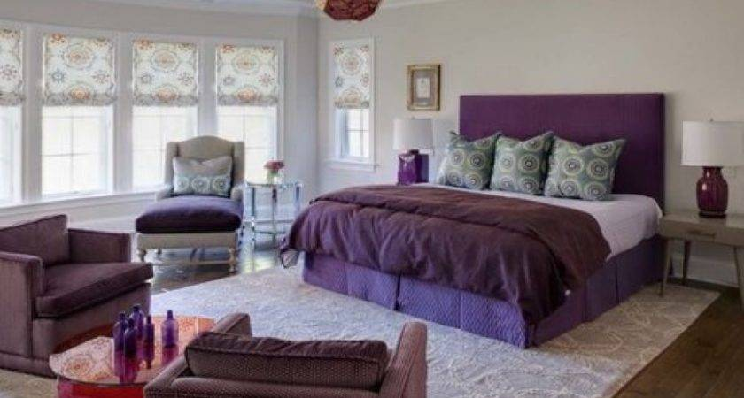Unique Bedroom Decor Purple White Ideas