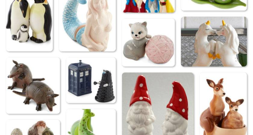 Unique Salt Pepper Shakers Holiday Gift Ideas