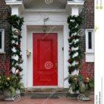 Used Front Doors Homes Christmas Decorated