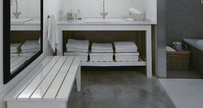 Using Concrete Bathroom Floor Change Look Your