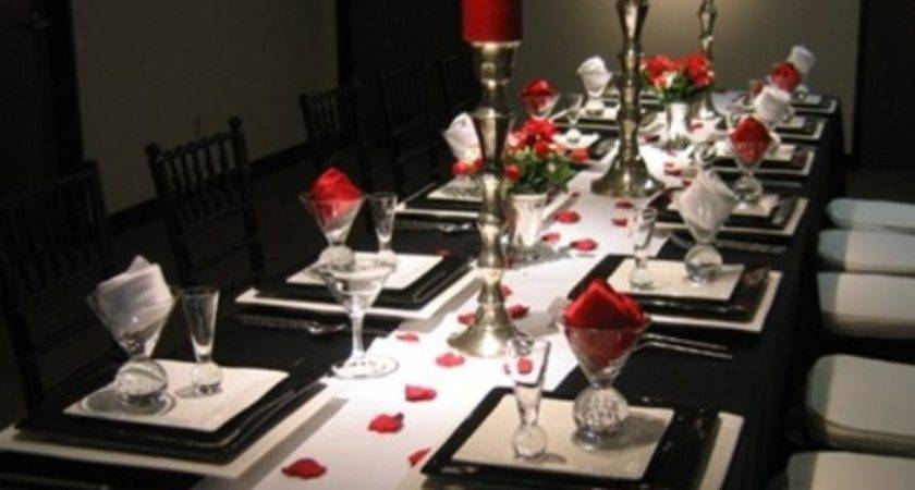 Valentine Day Table Settings Perfect Romantic