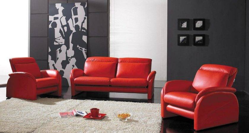 Various Design Red Sofa Living Room Decorating Ideas