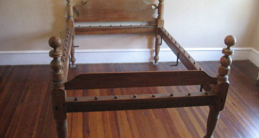 Victorian Rope Bed Wood High Headboard Custom Mattress