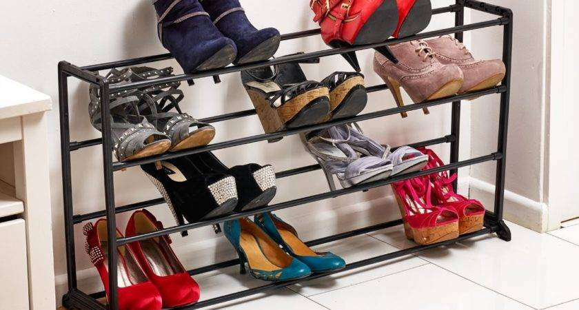 Vinsani Tier Shoe Storage Rack Organiser Shelf Hold