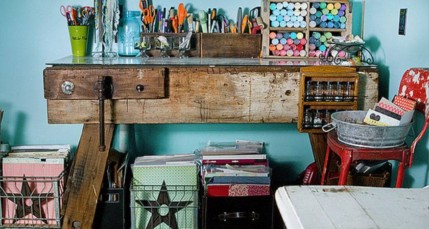 Vintage Artsy Beautiful Craft Room Kendra Mccracken