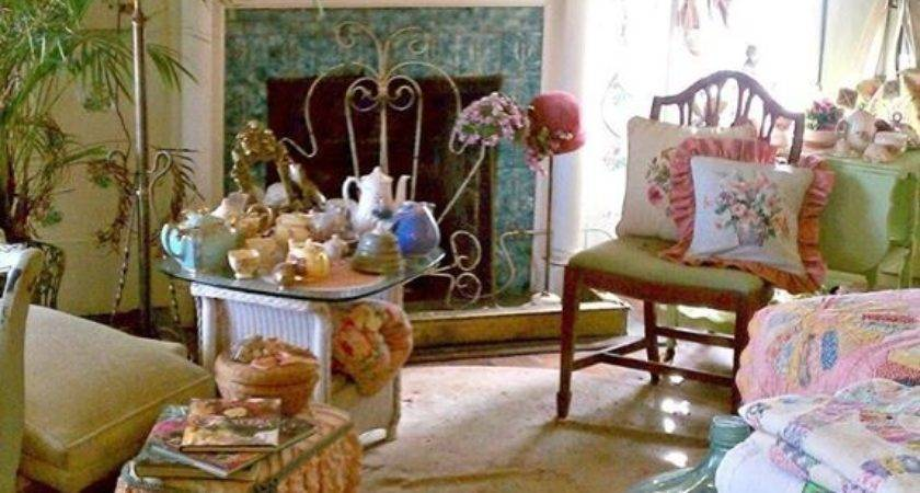 Vintage Country Living Room Photos