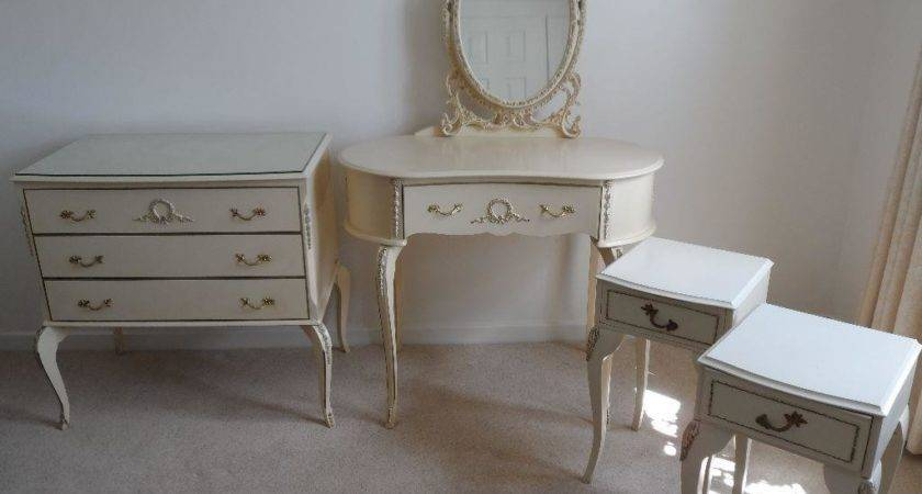 Vintage Shabby Chic French Louis Style Bedroom Furniture
