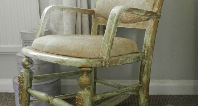Vintage Shabby Chic Rocking Chair Bedroom Ebay