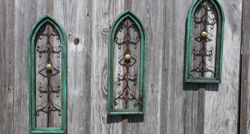 Vintage Wooden Cathedral Wall Art Decor Sizes