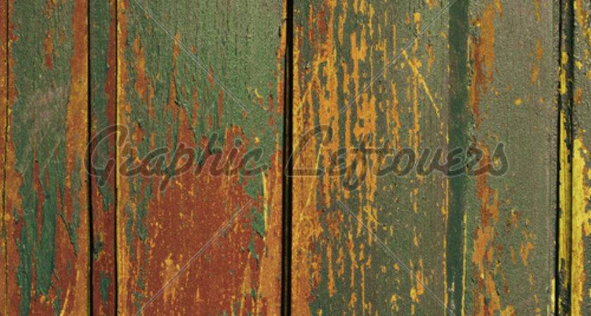 Vintage Wooden Old Painted Wall