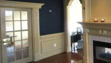 Wainscot Frames Traditional Living Room